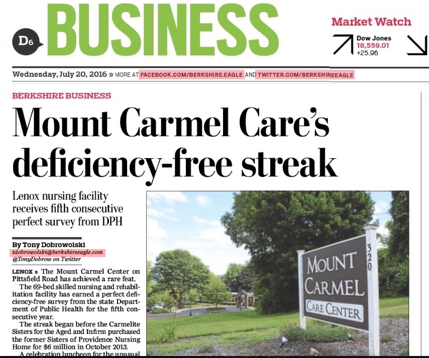 Mount-Carmel-Care-Berkshire-Eagle-Fifth-Consecutive-Deficiency-Free-Survey
