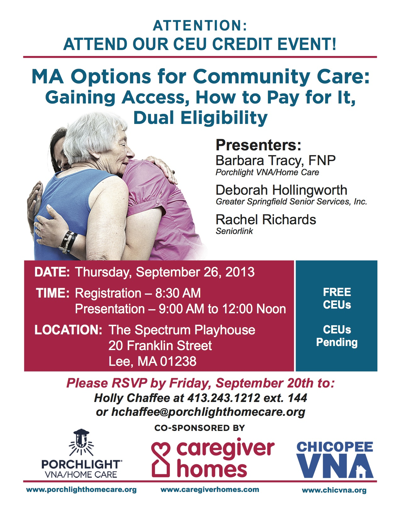 PORCHLIGHT VNA/HOME CARE FREE CEU/BREAKFAST EVENT