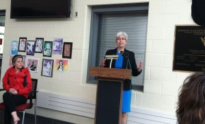 State Rep. Gail Cariddi emphasized the value of Hoosac's integration of alternative energy into the curriculum, benefiting the students.
