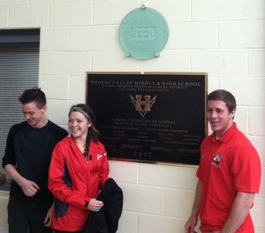 Hoosac Valley students unveil LEED Gold plaque